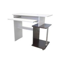 Mesa Flex-uv - Tabaco/branco - Para Computador E Impressora