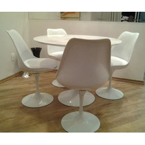 Mesa Saarinen Em Laca 0.90 Cm + 04 Cadeiras S/braço Promoção