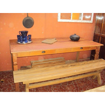 Mesa Em Madeira De Demolição