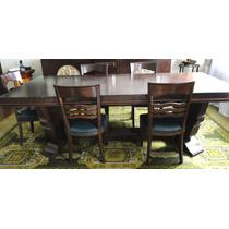Mesa E 10 Cadeiras Sala De Jantar Art Decô John Graz