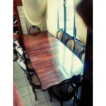 Imponente Mesa + 8 Cadeiras Medalhão Duplo Jacarandá.