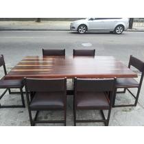 Mesa De Jantar + 6 Cadeiras Sergio Rodrigues Anos 50