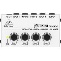 Mixer Compacto 4 Canais Micromix Mx400 Behringer 465