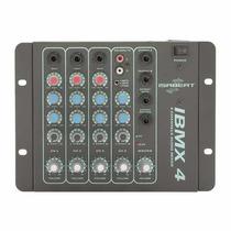 Mesa De Som Mixer Isabeat Ibmx 4, 4 Canais, Stereo Som