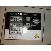 Mesa De Som Behringer Xenyx 502 - Mixer 5 Canais Com Phantom