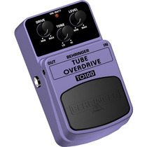 Pedal De Efeito Behringer To100 P/guitar Tube Overdrive 2800