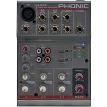 Mesa De Som Profissional 5 Canais Phonic Am 55 Mixer