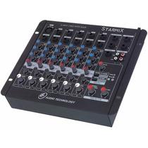 Mesa De Som Mixer Starmix Ll Sa602r 6 Canais Efeito Estéreo