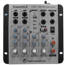 Mesa De Som 4 Canais Ll Nanomix Na502r Com Usb