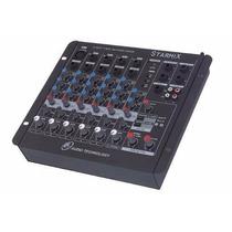 Mesa De Som Mixer 6 Canais Ll C/ Usb Starmix Us602r