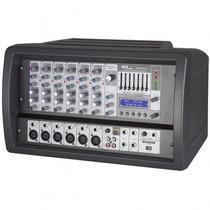 Mesa De Som Amplificada Skp Cabeçote Mp3 Usb 250w 6 Canais