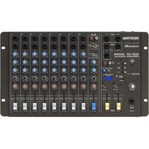 Mesa De Som Stereo Ciclotron Wattsom Mxs 10 Sd 10 Canais Usb