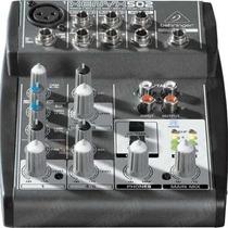 Mesa De Som Behringer Xenyx Mic 502 Mixer 5 Inputs 2 Bus-mix