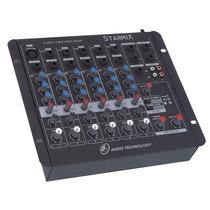 Mesa De Som Mixer Starmix Sa602 R - 6 Canais - Ll Audio