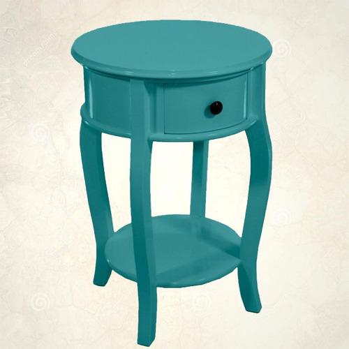 Artesanato Arame ~ Mesinha Criado Provençal Azul Turquesa Perfeito Estado R$ 950,00 no MercadoLivre
