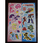 Cartela De Adesivos Transformes / My Little Pony Mc Donalds