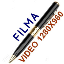 Caneta Filmadora Espiã/pen Drive; Filma Resolução 1280x960.