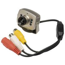 Mini Câmera Cftv Ccd Color Com Audio