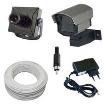 Kit Monitoramento 1 Micro Câmera De Segurança Completo P/ Tv