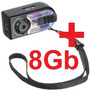 Micro Câmera Espiã Filma Hd Mini Dv C 8gb Grátis 12mp Metal