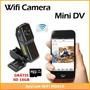 Spycam Wifi Mini Câmera Espiã 16 Gb Wifi Md99 Md81s Md99s