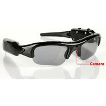 Óculos De Sol Espião Filmadora Micro Câmera Som Spy Secreto