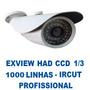 Camera Infra Vermelho Ccd Sony 1/3 1000tvl Ircut Lente 2,8 M