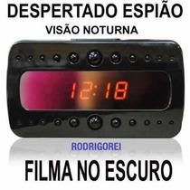 Relogio Despertador C/camera Ip Visao Noturna Espionagem