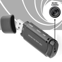 Micro Camera Camuflada Pendrive Espião Video Audio + De 4hrs