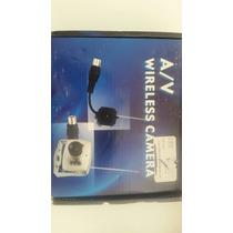 Mini Camera Colo Sem Fio+receptor Wifi+2 Fontes+cabos A/v