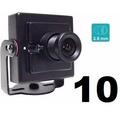 Kit 10 Mini Camera Alta Resoluçao Digital 1000 Linhas 1/3