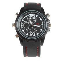 Relógio Espião De Pulso 8gb Espiã Preto/cromado