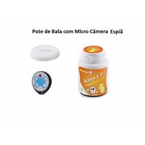 Pote De Balas Com Micro Câmera 8gb Filmagem Secreta