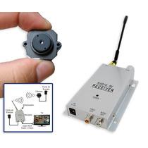 Micro Mini Câmera De Segurança Sem Fio Com Receptor E Fonte