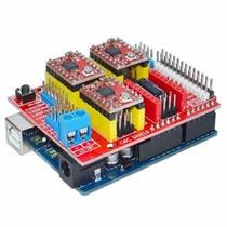 Kit Cnc Xyz: Arduino Uno R3 + 4 Driver A4988+ Shield Cnc