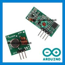 Módulo Emissor E Receptor +cod Exemp Rf 315 433 Mhz Arduino