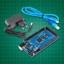 Arduino Mega 2560 + Fonte + Cabo Usb + Ebook