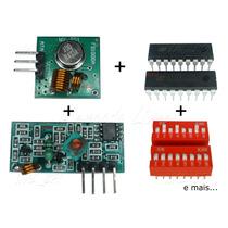 Transmissor E Receptor De Rf 433mhz - Kit Completo - (011c)