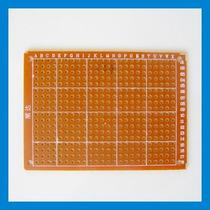 Placa Fenolite Ilhada Perfurada Furada Prototipagem 7x5cm