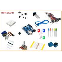 Kit Básico Arduino Uno Smd Automação + Servo + Proto= 115pç