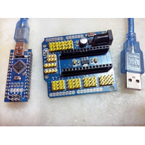 Kit Nano Base Arduino Atmega328 + Shield Placa De Expansão