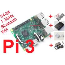 Kit Raspberry Pi3 (pi 3) Case+microsd 64+dissipadores+fonte
