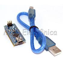 Arduino Nano V3.0 Atmega328 16mhz 5v Com Cabo Usb E E-book