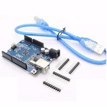 Arduino Uno R3 Rev3 Atmega328 Smd + Cabo Usb + Tutoriais