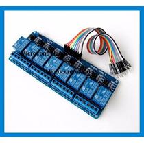 Relé 8 Canais + Cabos + Exemplo Arduino - 5v Modulo Contator