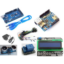 Kit Arduino Mega + W5100 + Ldc + Relé + Fonte + Jumpers Etc