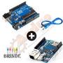Kit Arduino Uno R3 + Ethernet Shield W5100 + Brinde + Frete