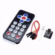 Kit Controle Remoto Ir + Receptor Ir Arduino Infra Vermelho