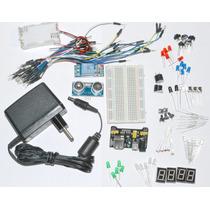 Kit Iniciação Eletrônica, Protoboard, Com 150 Componentes!