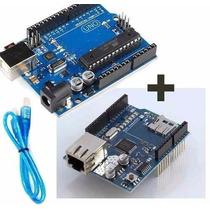 Kit Arduino Uno R3 + Ethernet Shield W5100